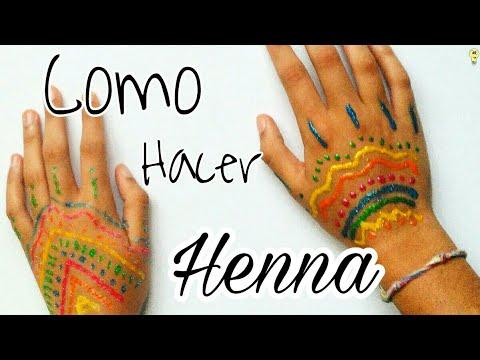 Haz Henna Casera De Colores Y Metalizada Como Hacer Tatuajes