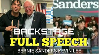 """Kevin Lee Full Bernie Sanders Rally Speech """"Trumps Boy got knocked out"""" and Kevin & Bernie Backstage"""