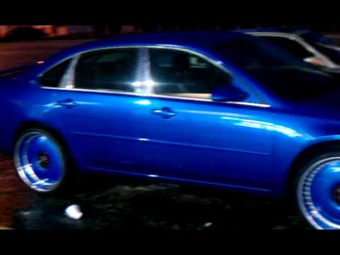 Chevy impala on candy paint all blue, - YouTube