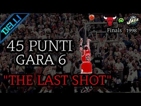 """Michael Jordan """"SOVRUMANO"""" 45 Punti G6 Finals '98 (Live🎙F.Tranquillo e F.Buffa)"""