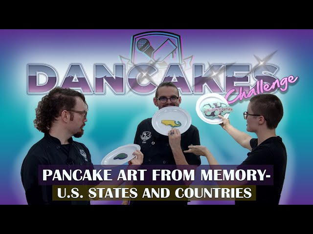 Dancakes Challenge - Pancake Art From Memory - States and Countries 🥞
