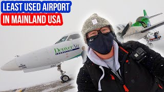 STRANDED at the LEAST USED Airport in Mainland USA!