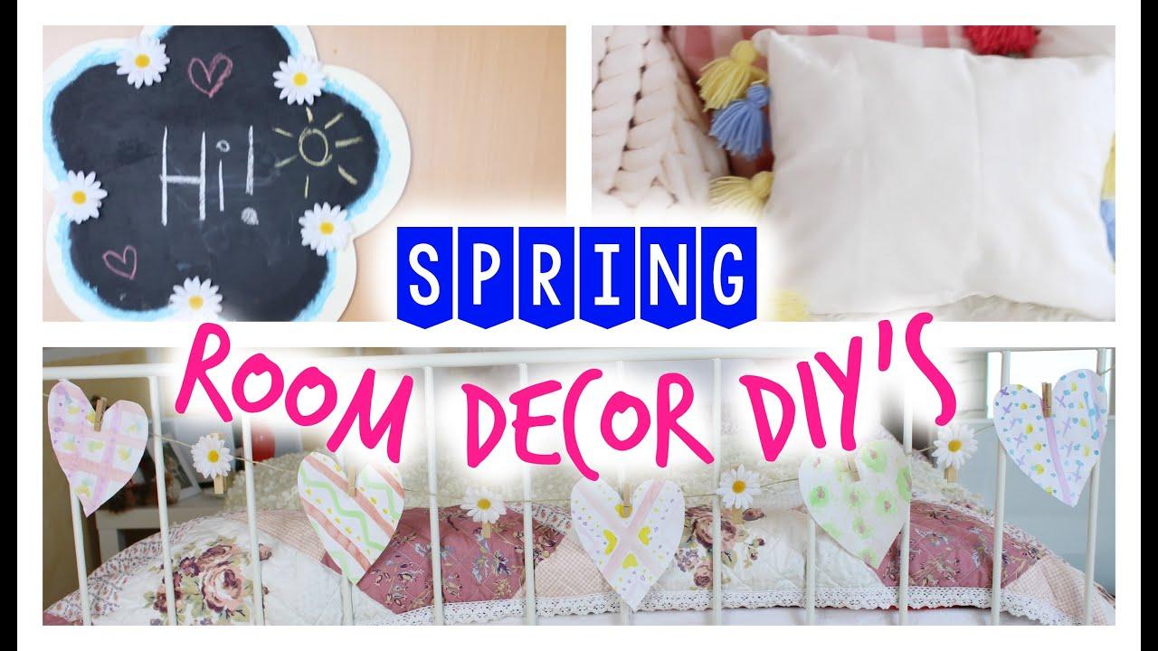 SPRING ROOM DECOR DIYu0027s   Einfache Ideen Für Ein Frühlingshaftes Zimmer |  Julia Beautx   YouTube