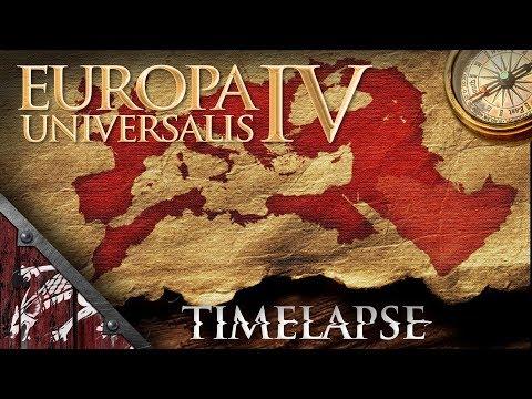 EU4 M&T 2.0 Empire of the Romans to Roman Empire Timelapse