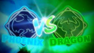 Phoenix vs Dragon, The fiery wings battle | Roblox Elemental Battlegrounds