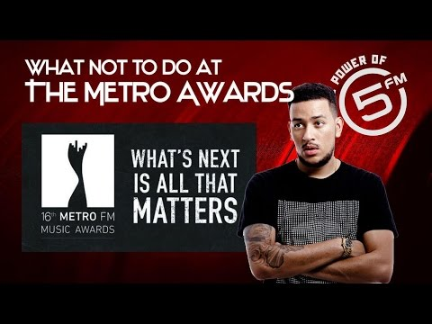 How NOT to accept an award at the Metro FM Music Awards 2017
