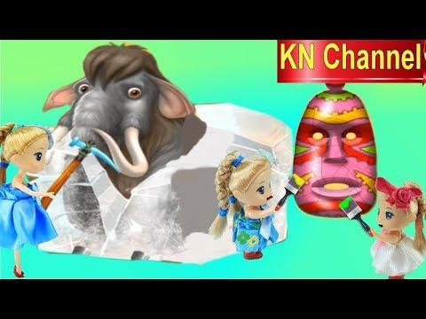 Búp bê KN Channel SƠN MẶT NGƯỜI THỔ DÂN DA ĐỎ VÀ PHÁ HỦY VOI MAMUT