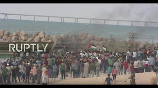LIVE: Palestinian protest at northern Gaza seashore against Israeli blockade