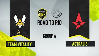 CS:GO - Astralis vs. Team Vitality [Dust2] Map 1 - ESL One: Road to Rio - Group A - EU