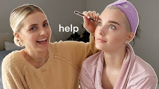 my sister gives me a MAKEOVER... (with Aspyn Ovard)