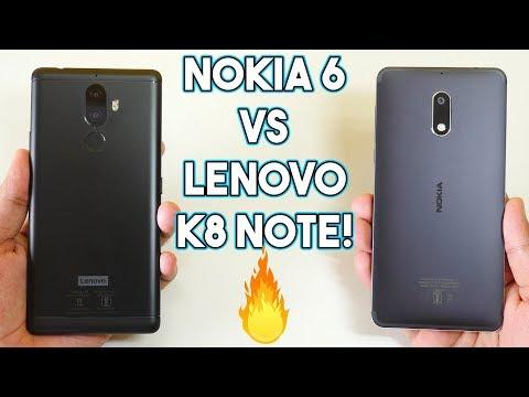 Nokia 6 vs Lenovo K8 Note Speedtest Comparison! - Vloggest