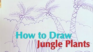 How to Draw Jungle Plants - Great Artist Mom - Guided Drawing