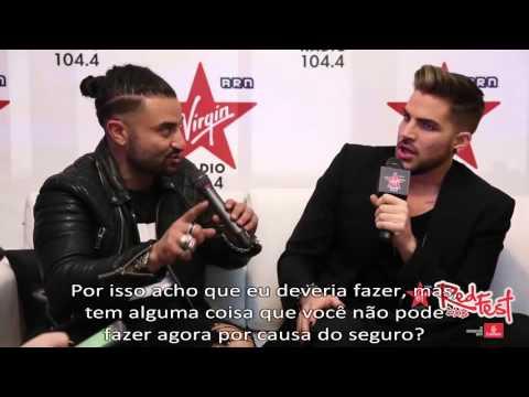 Adam Lambert - Entrevista com a Virgin Radio 104.4, Dubai (12/02/2016) - legendado