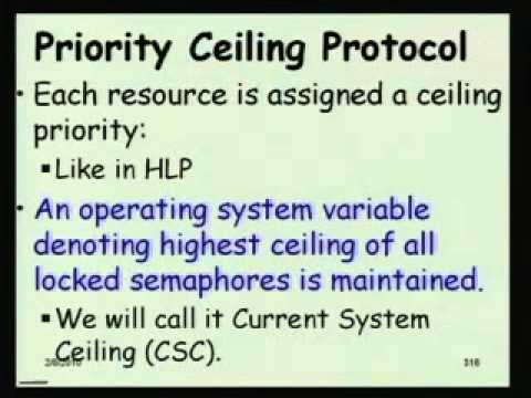 Mod-01 Lec-14 Highest Locker and Priority Ceiling Protocols