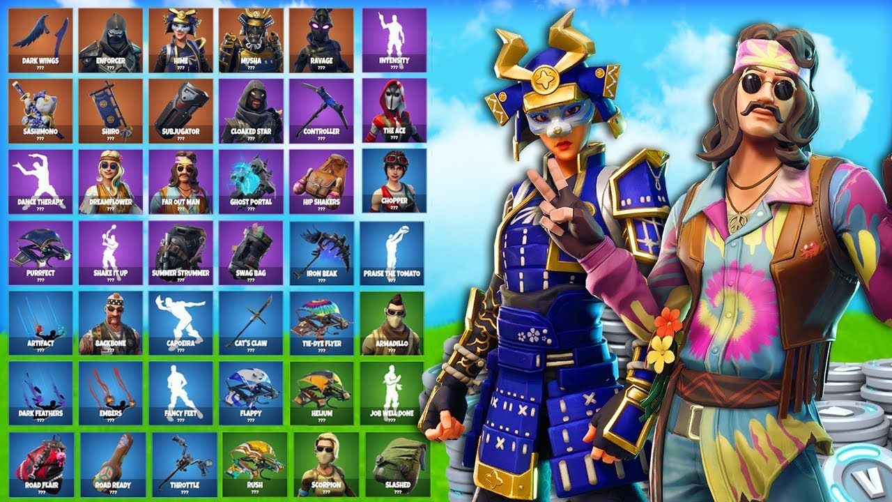 All New Skins Items In Fortnite Leaked Skins Emotes More
