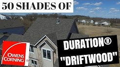 50 Shades Of Driftwood Shingles, Aerial Drone Footage to help visualize Shingle colors