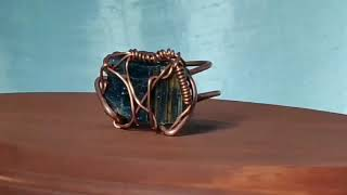 Indigo Kyanite Adjustable Copper Ring for Men & Women by SilkWire Jewelry