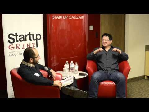 Evan Hu (Ideaca) at Startup Grind Calgary