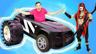 Бен 10 в видео с игрушками – Машинка для Бен Тена! - Игры для мальчиков в Автомастерской.