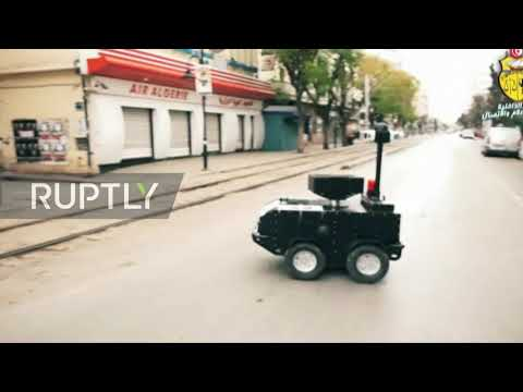 Tunisia: P-Guard robots patrol streets during coronavirus lockdown