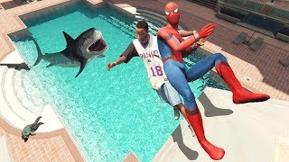 GTA 5 Spiderman Water Fails | ragdolls vol.1 (Euphoria physics)