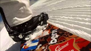 Snowboard GoPro Rear Boot Cam