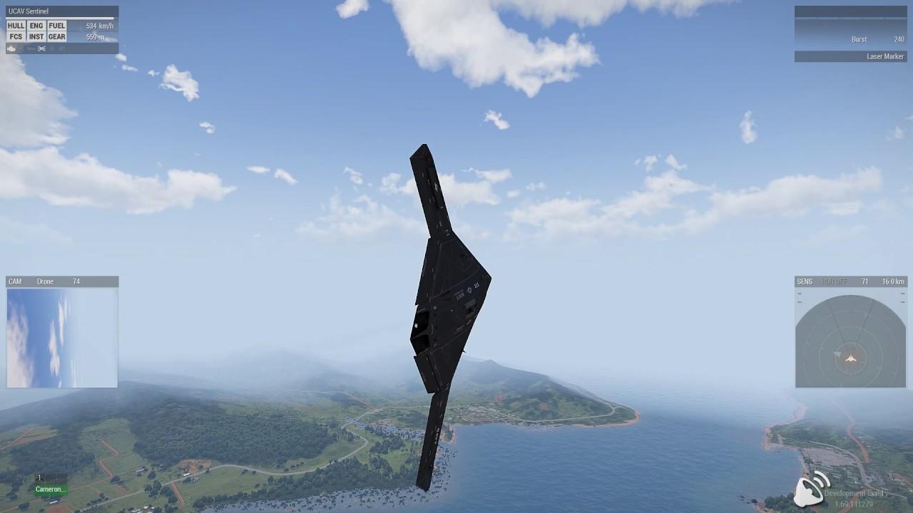 Arma 3 Ucav Sentinel Jets Dlc Youtube