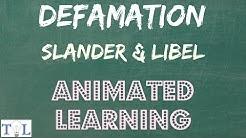What is Defamation, Slander, & Libel  - Quick Lessons - Episode # 3