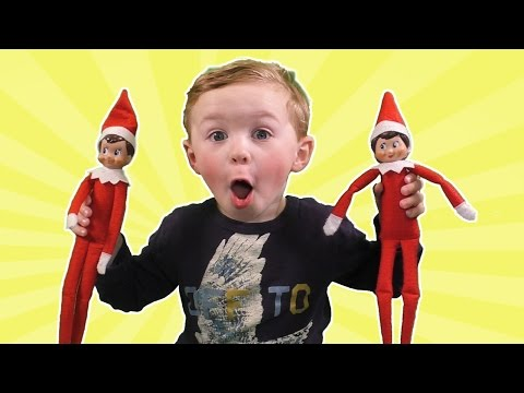 Elf on the Shelf Party | Jagger Touched The Elves! Did we Ruin Christmas Santa Let us Touch the Elf