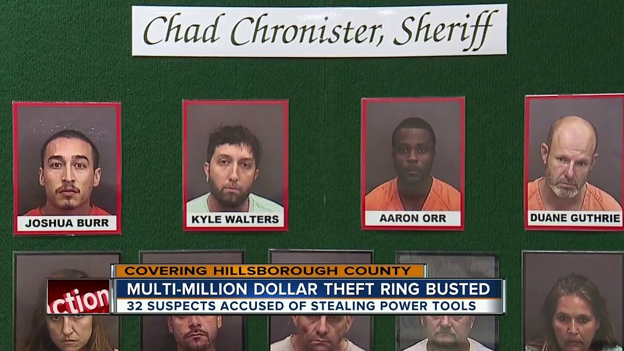 95adb7a1b35 34 arrested in massive theft  amp  re-sale ring at Hillsborough County Home  Depot stores
