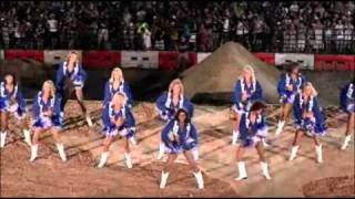The Dallas Cowboys Cheerleaders perform for Red Bull X Fighters