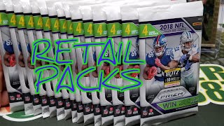 2018 Prizm Football Retail Pack Opening. Great Color!