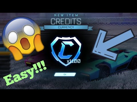 HOW TO GET CREDITS!! | Rocket League | Insanely Fast Method!!!