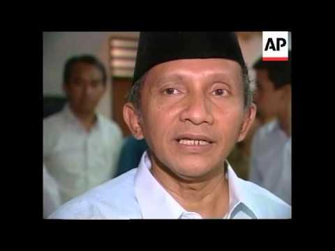 INDONESIA: AMIEN RAIS CONCEDES ELECTION DEFEAT