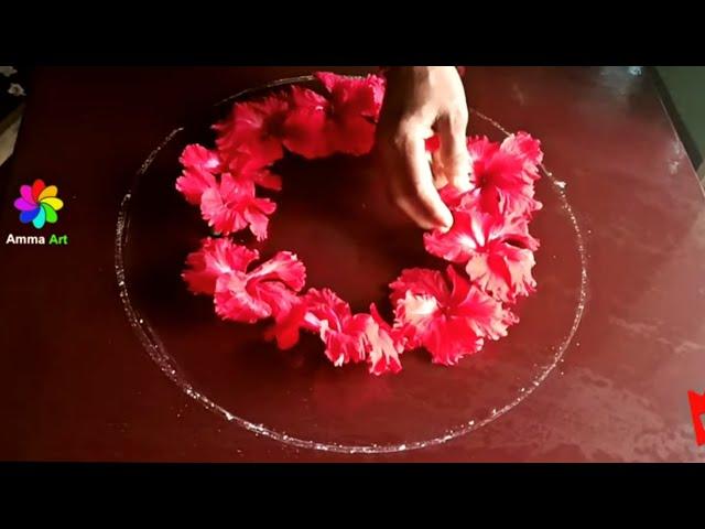 real flower rangoli designs | puvvula muggulu | poo kolam with natural flowers | ????????