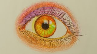 How to Draw a Colored Realistic Eye Step by Step   Learn Drawing   Drawing Buzz