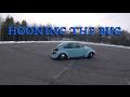 Super Beetle Drifts On Pavement