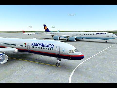 [HD]Infinite Flight Boeing 757-200.Aeromexico sounds ,Infinite pax+copilot assistant