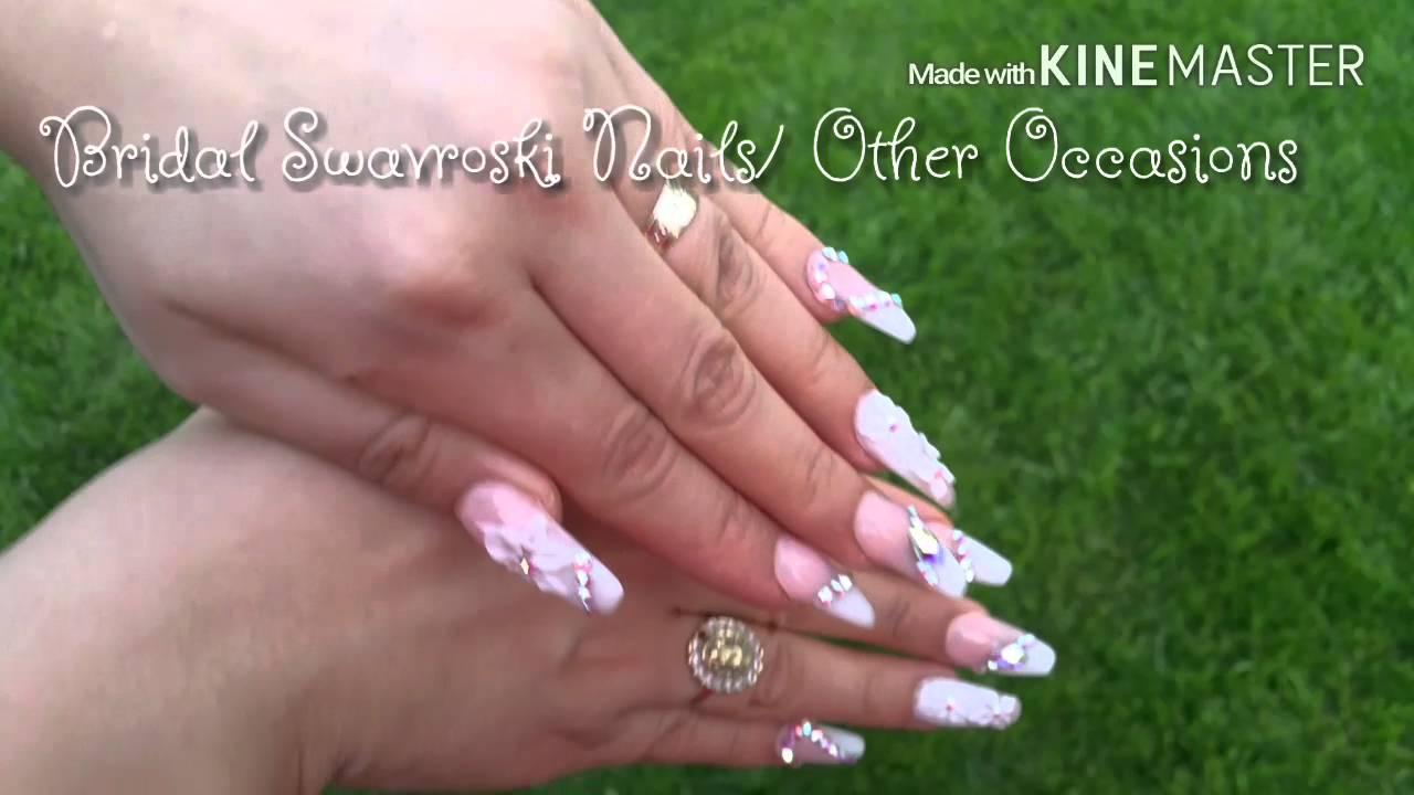 Bridal Swavroski Nails / Other Occasions/ Uñas para Novia con ...