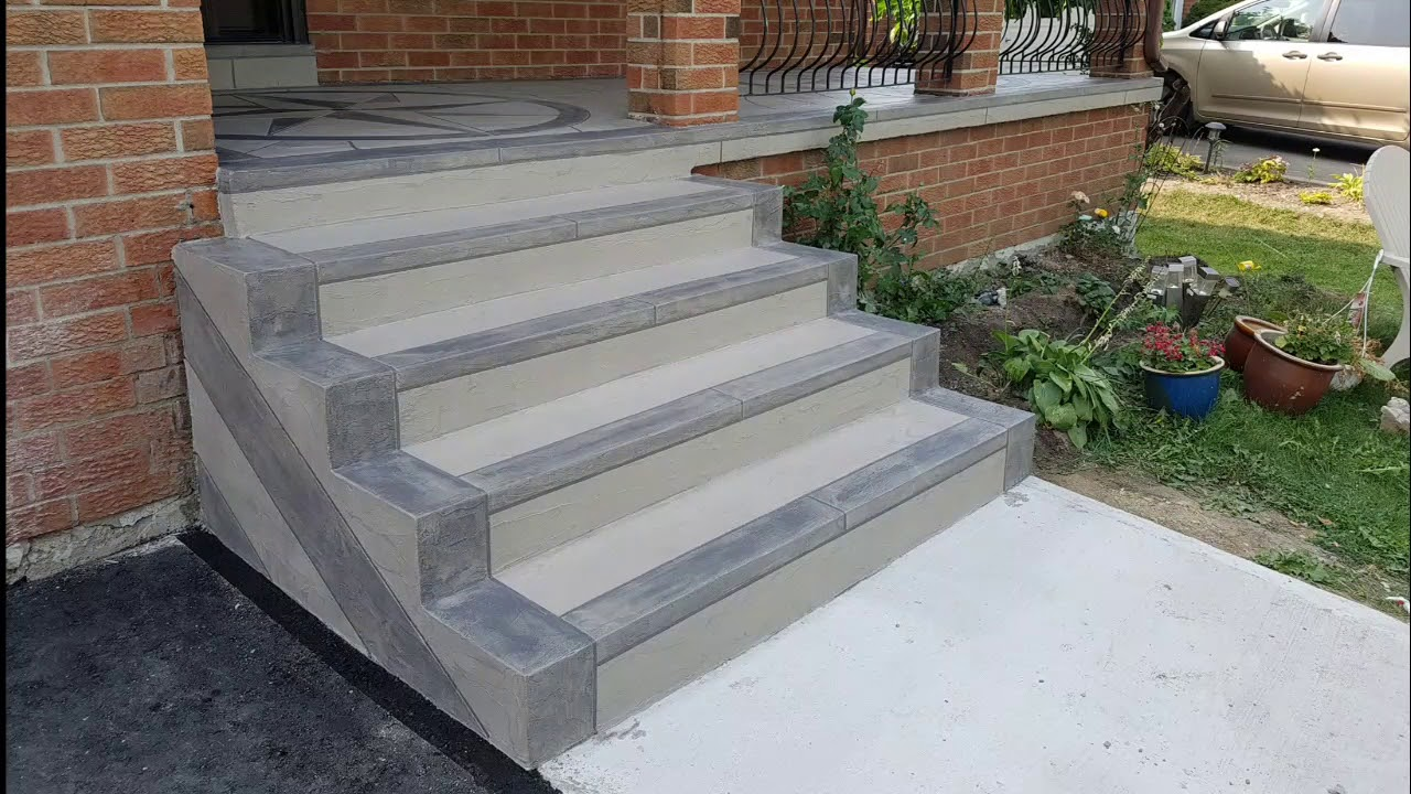 Resurfacing Concrete Steps Design, Finishing Jewel Stone Designs, Subscribe coming up next - YouTube