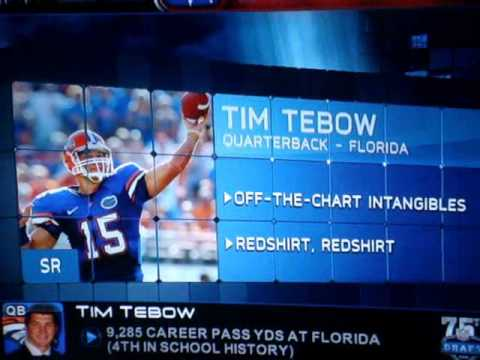 Tim Tebow drafted to the Denver Broncos