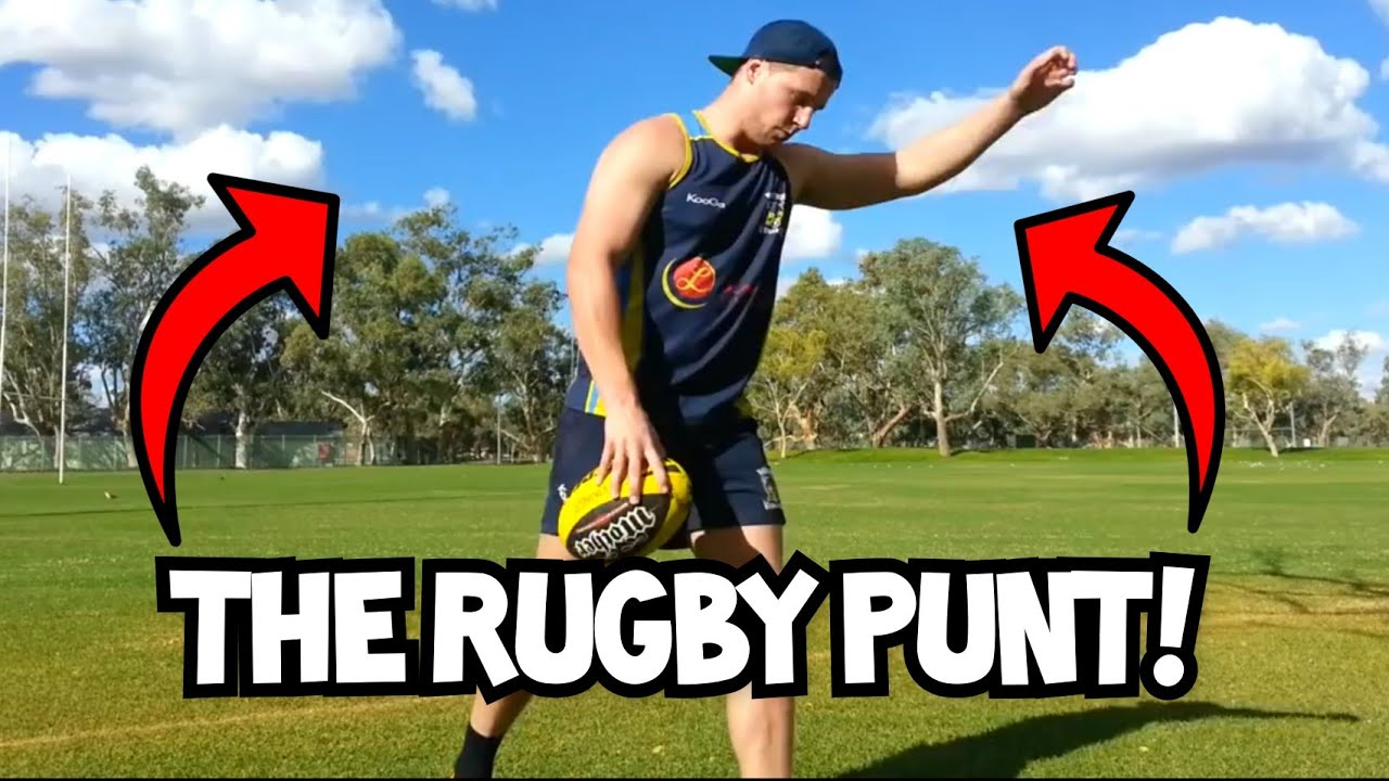 How to do a Punt Kick | Rugby Skills Tutorial