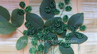 Бисероплетение. Плетение листьев из бисера.