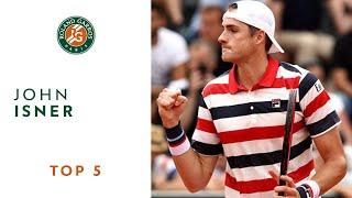 John Isner - TOP 5 | Roland Garros 2018