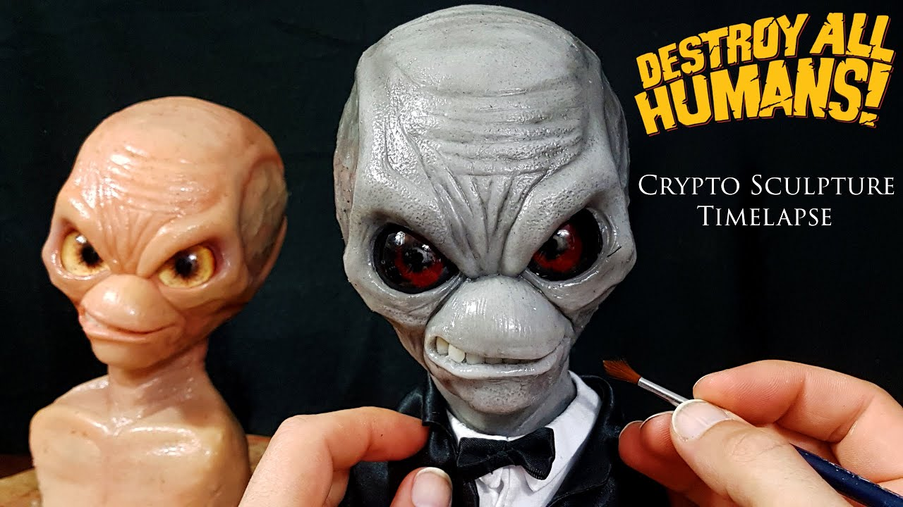 Destroy All Humans Sculpture Timelapse - Sculpting Crypto 137