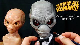 Destroy All Humans Sculpture Timelapse - Sculpting Crypto 137