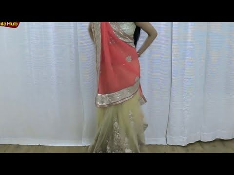 How To Wear Saree As Lehenga Saree | Drape Indian Ethnic Wedding Sari Blouse with Jiilahub