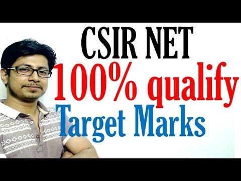 CSIR NET sure target to qualify NET JRF and LS | 100% assurance marks to crack CSIR NET exam