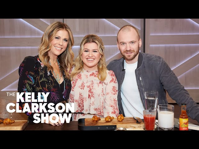 Kelly Clarkson And Rita Wilson Play Sean Evans' 'Hot Ones' Truth Or Dab Challenge