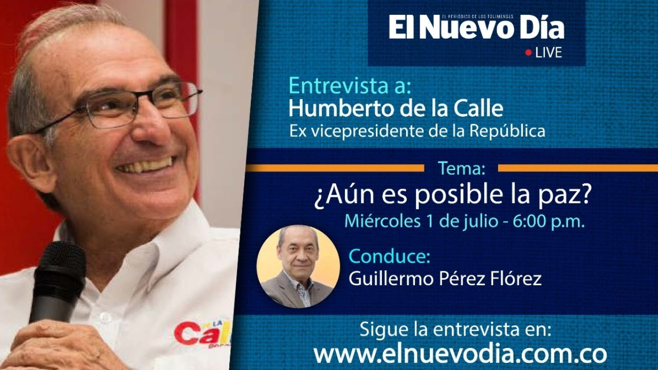 #WebCamEND | En entrevista Guillermo Pérez a Humberto de la Calle, Ex vicepresidente de la República